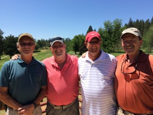 Men's Flight Winners - Ted Schoppe, Rob Barker, Brad Branstad & Rick Honey
