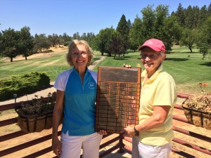 Sandy Hansen, Runner Up and Chris Elko, Club Champion for 18 hole group, 2014