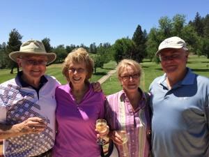 Couples Flight Winners - Harlan & Nancy Williams and Gail & Jim Beardsley