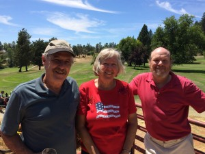 Patriots Tourney Closest to the Pin Winners - Tim Haley, Dorothy Stone & Dave Almassy