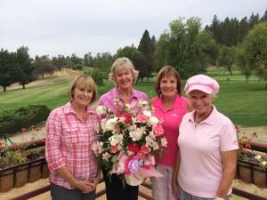 1st flight winners - Kandice Kelley, Caroline Michelsen, Debbie Scott & Diane Sanguinetti