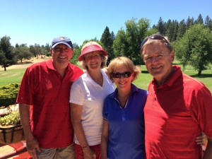 Couples flight Winners - Dave Hood, Carolyn Michelsen, Donna & Dave Carter