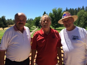 Men's flight Winners - Frank Davis, Ted Callison & Bill Thompson (not pictured - Dan Johnson)