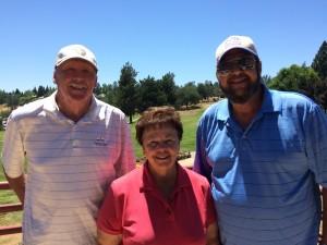 Seniors Tourney Closest to the Pin Winners - Bob Flecksteiner, Marian Slayton & Phil Condict