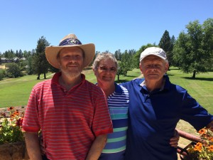 Seniors Tourney Low Gross Winners - Dave Almassy, Sherrie Rankin & Jorgen Jensen