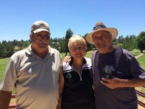 Seniors Tourney - Low Net Winners - Dan Johnson, Pat Tintle & Bill Thompson