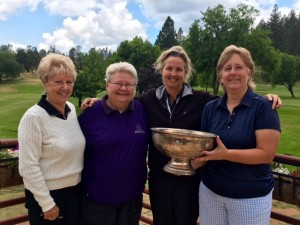 Captains Cup 18-hole group: Gloria Dalke (4th), Sandy Pack (3rd), Mary Deardorff (2nd), Marlene Dresbach (1st)