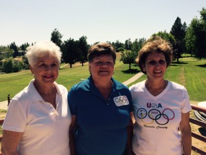 Individual Skills Gold Medalists - Shirley Griggs (Bronze Flight), Sue Underwood (Silver Flight) and Doreen Lewallen (Gold Flight)