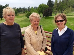 Pat Tintle & Gloria Dalke, 2nd place in the 2nd flight for 18-hole group; Donna Carter & Carolyn Michelsen (not pictured), winners of the 2nd flight.