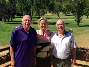 Closest to the Pin Winners Bob Flecksteiner (hole #5), Mary Deardorff (hole #14) and Gary Deardorff (hole #11)