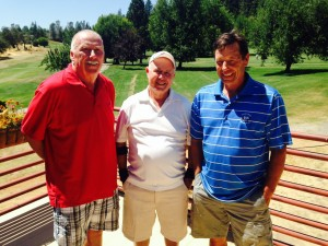 Bob Flecksteiner (Low Net 2nd flight); Bob Alvares (Low Gross 2nd flight) and Dan Triano (Low Net 1st Flight)