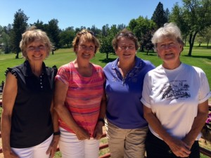 1st Flight Winners - Sandy Hansen, Cathy Fouyer, Joann Hinchcliffe & Madeleine Selleck