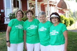 Winning Team in the Cowardly Lion Flight - Christine Lawicki, Carol Elizondo, Sandy Kelley & Carol Evans