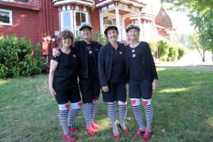 Winning Team in the Scarecrow Flight - Arlene Fowler, Madeleine Selleck, Cathy Fouyer & Sandy Hansen