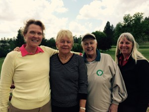 May Guest Day 1st Flight Winners - Jo Menary, Pat Tintle, Lynne Martinson & Diane Friedberg