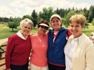 May Guest Day 2nd Flight Winners - Sandy Kelley, Carol Evans, Christine Lawicki & Nelita Boom