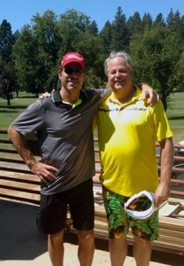 Mike Roberts (guest) and Dave Menary combine for the Low Gross honors in this year's event