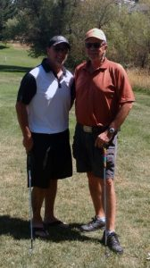 Mike Merick (guest) and Rick Honey earn the top spot in this years Men's Invitational