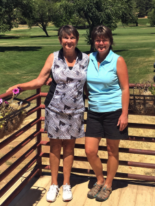 9-hole Winners Sandy Osterholt & Delores Spindler